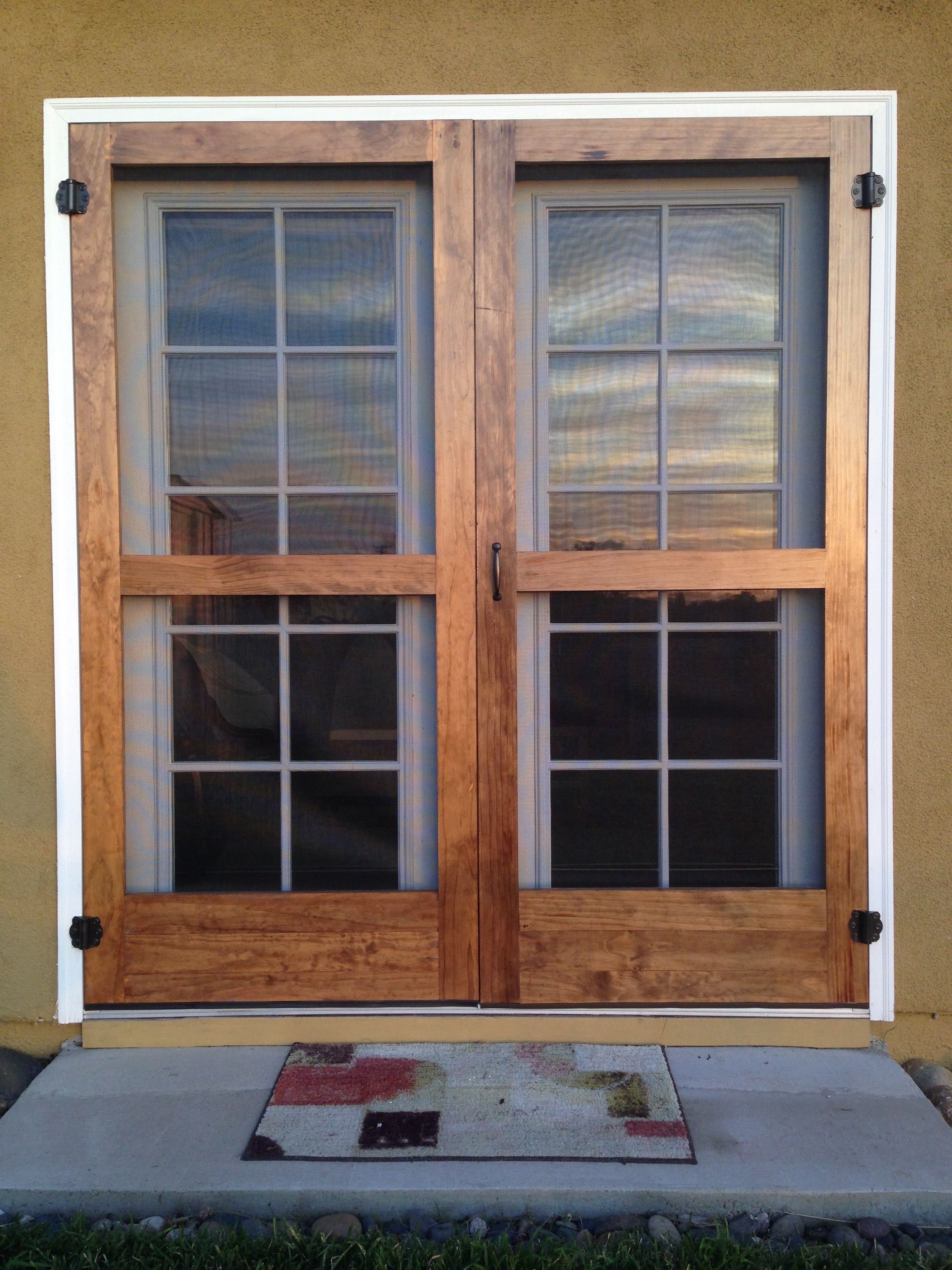 Custom Wood Screen Doors Located In San Diego Diy Screen Door French Doors With Screens French Doors