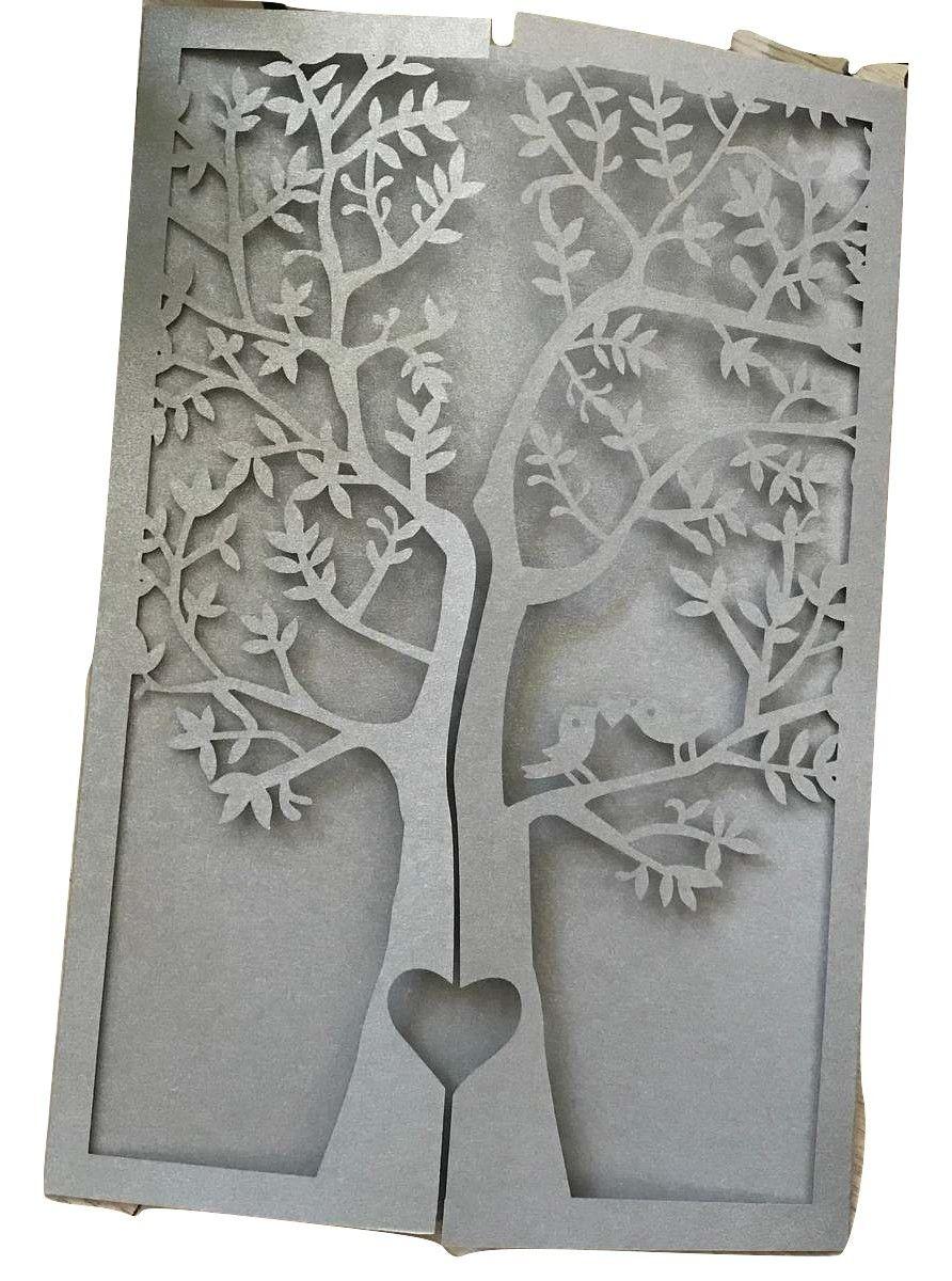 Tree Silver Laser Cut Gatefold Doors Invitation,More Colors Available,Laser Cut Invites for Wedding Sweet Sixteen Birthday Greeting,Laser Cut Wedding Invitations,50pcs