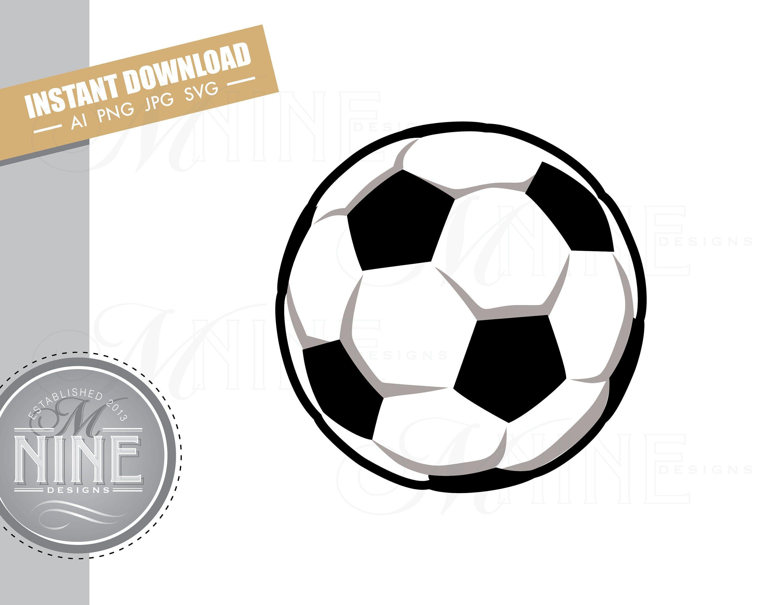 Soccer Ball Clip Art Downloads Vector Soccer Ball Ai Png Jpg Etsy In 2020 Downloadable Art Clip Art Photo Album Scrapbooking