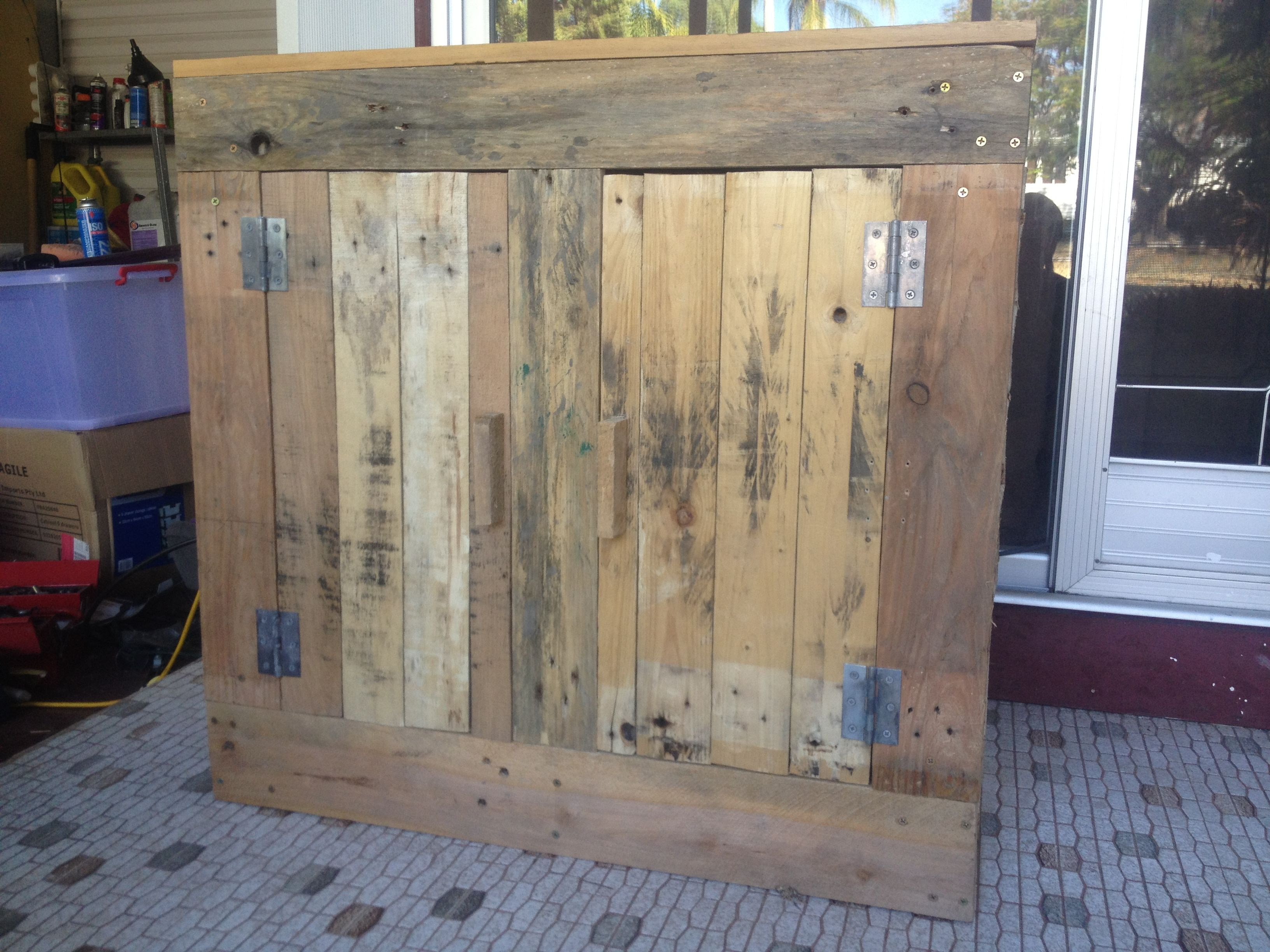cabinet made from pallets