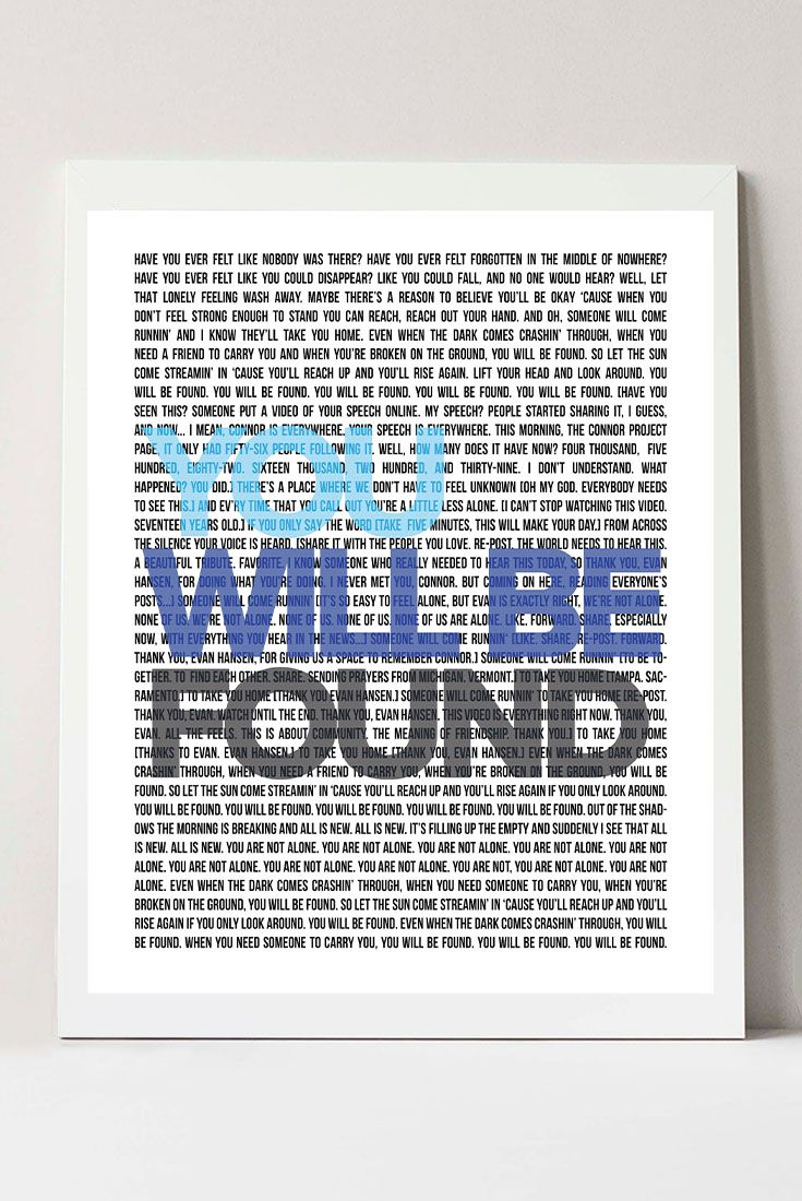 Broadway Musical Print Poster Broadway Musical Lyrics You Will Be