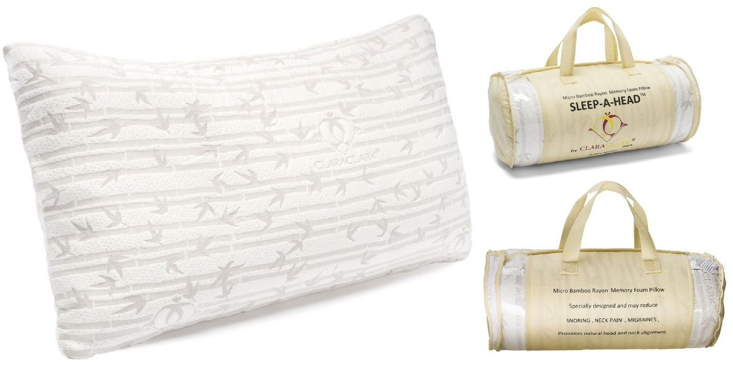 Details About 2 Pack Memory Foam Bamboo Gel Pillow By Clara Clark Available In King Or Queen Gel Pillow Memory