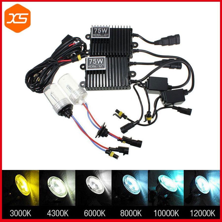 10 Pcs Modified H1 Xenon Lights HID Headlight Ballast Adapter Cable Wire for Car