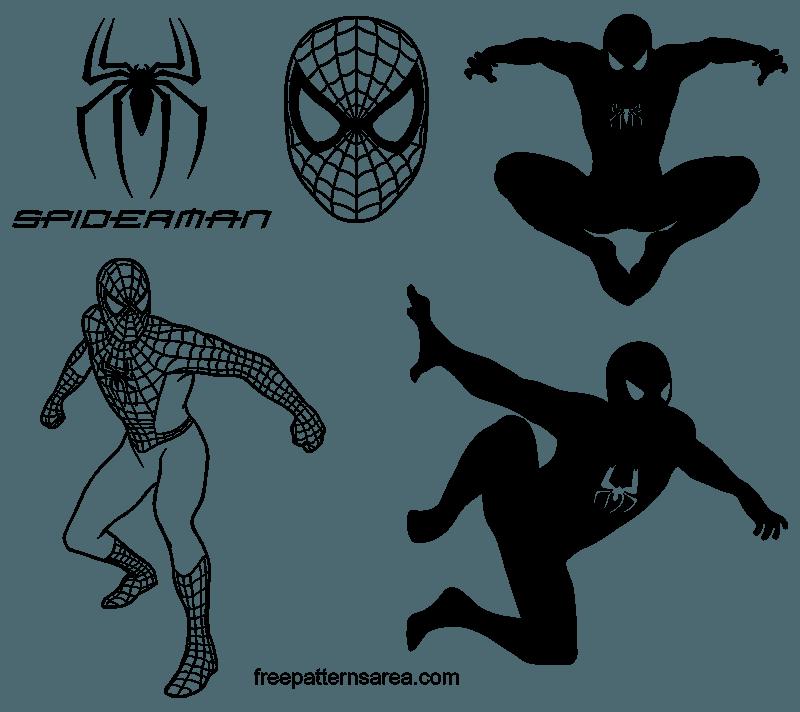 Spider Man Logo Symbol And Silhouette Vectors Freepatternsarea Silhouette Vector Spiderman Images Spiderman