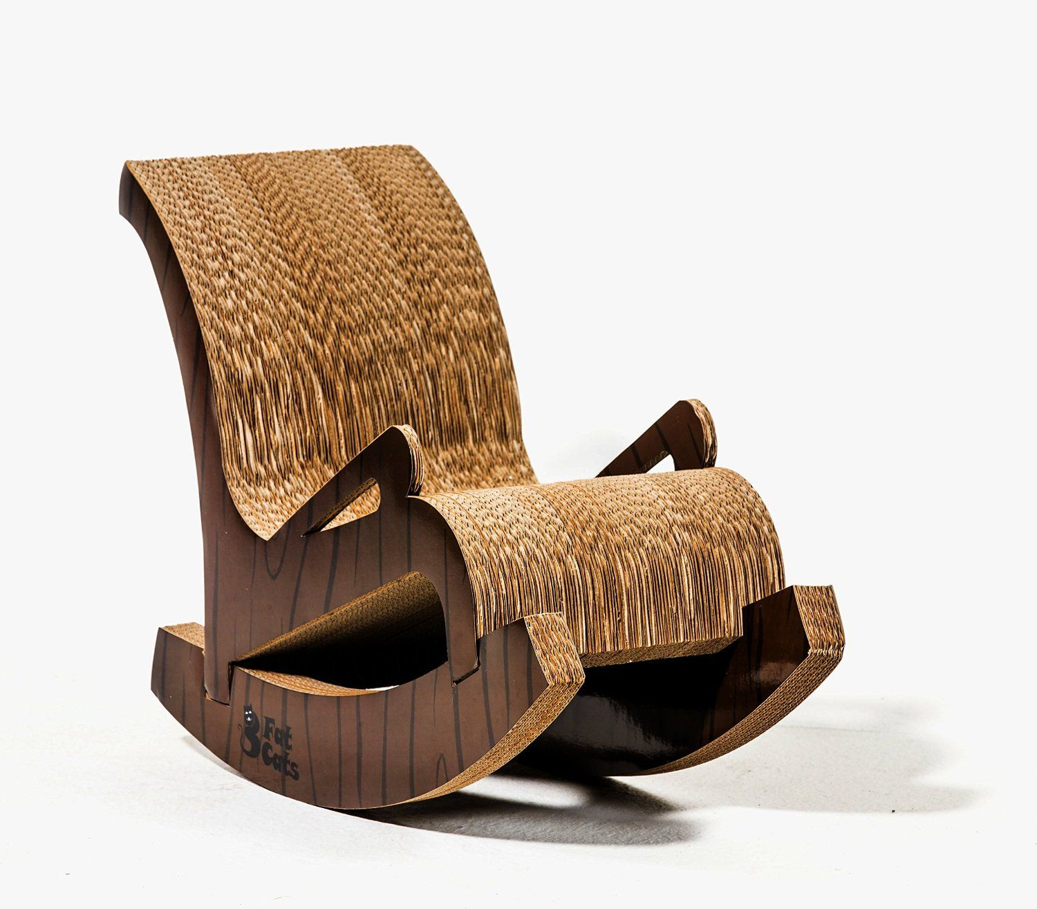 Cardboard rocking chair - The Rocking Chair Cat Scratcher