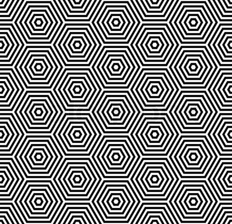 Hexagons texture Seamless geometric pattern stock vector
