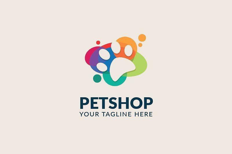 Petshop Logo By Birka Studio On Creativemarket 로고 아이디어 로고 디자인 및 로고