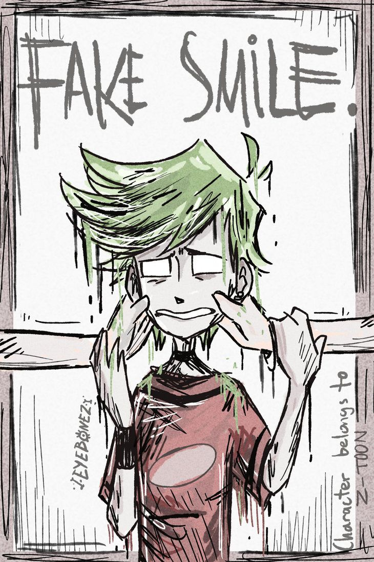 Fake Smile by EYEB0NEZ on DeviantArt Kid n teenagers, Z