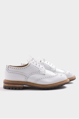 Anne White Brogue | Tricker