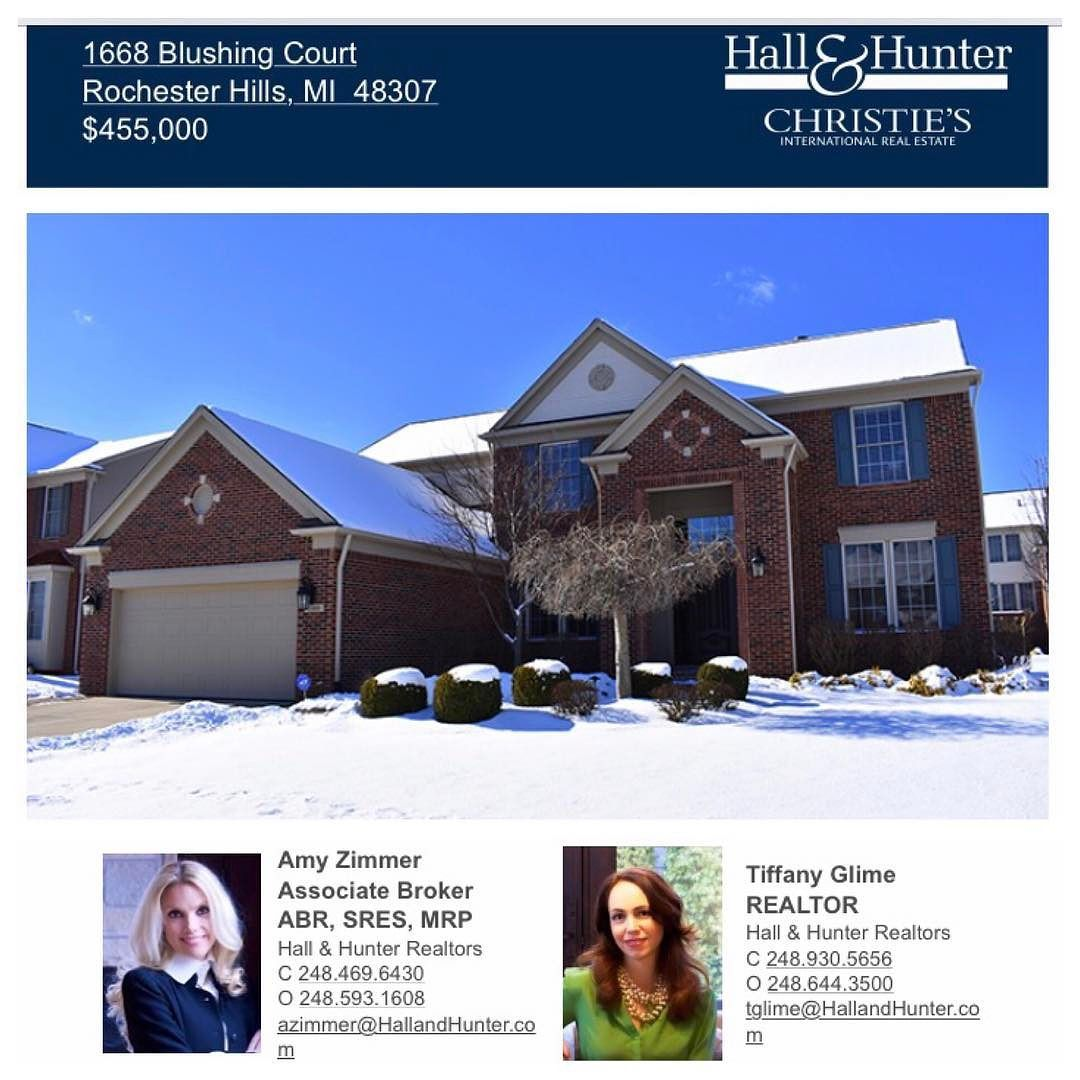 Open House: Looking to move to Rochester Hills? Stop by our great new listing at 1668 Blushing Ct. in Arcadia Park today (Thursday Feb. 9) between 10:30 am - 12:30 pm and take a look at this meticulously maintained turn key residence.  http://ift.tt/2kKKAC2 #listedbyzimmerglime #arcadiapark #rochesterhills #michigan #hallandhunter #christiesinternationalrealestate #leadingre #homebuyers #realestate #openhouse #zimmerglimerealestate