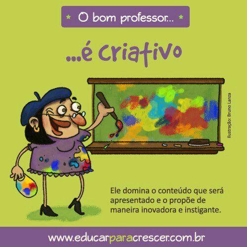 Educadora é criativa