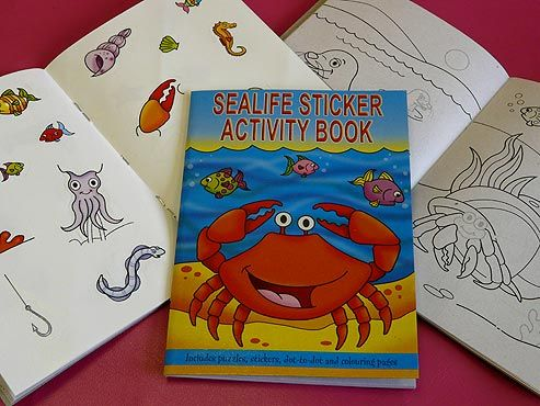 Sealife Sticker Activity Book 60p