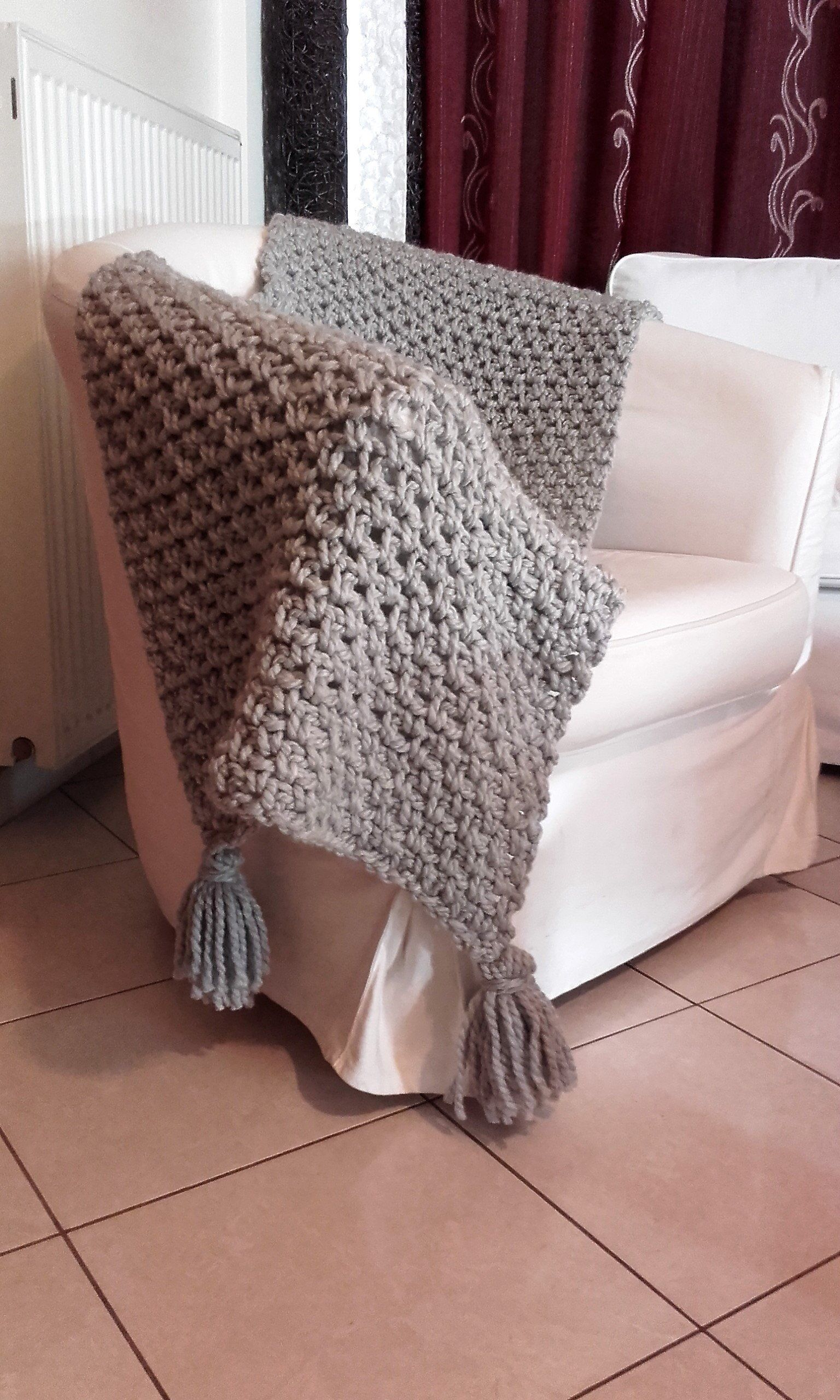 Chunky Knit Throw Blanket Sofa Throw With Tassels Boho Bedding Couch Bed Cover Wool Crochet Throw H Knitted Throws Boho Throw Blanket Chunky Knit Throw Blanket
