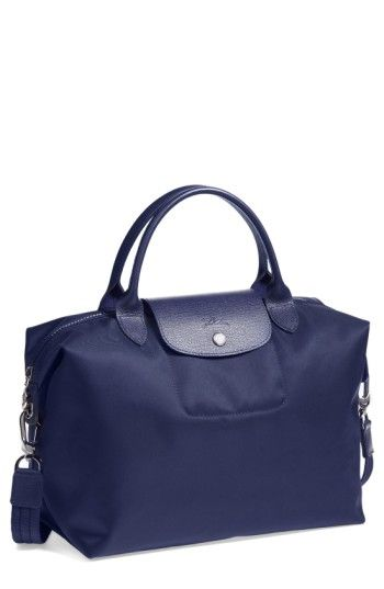 5d1116013583 LONGCHAMP  MEDIUM LE PLIAGE NEO  NYLON TOTE - BLUE.  longchamp  bags   leather  hand bags  nylon  tote