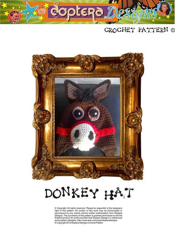 Crochet Donkey Hat Pattern