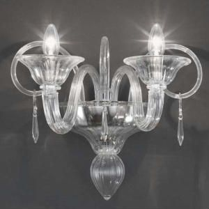 Clear Murano Gl Wall Sconce