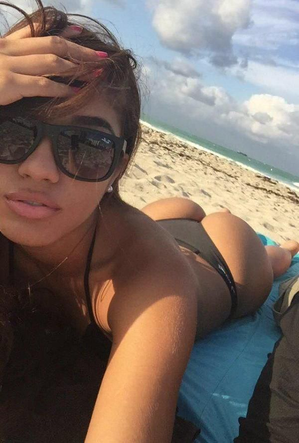 the gorgeous yovanna ventura takes an ass selfie at the