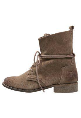 Lace-up boots - schlamm/schwarz