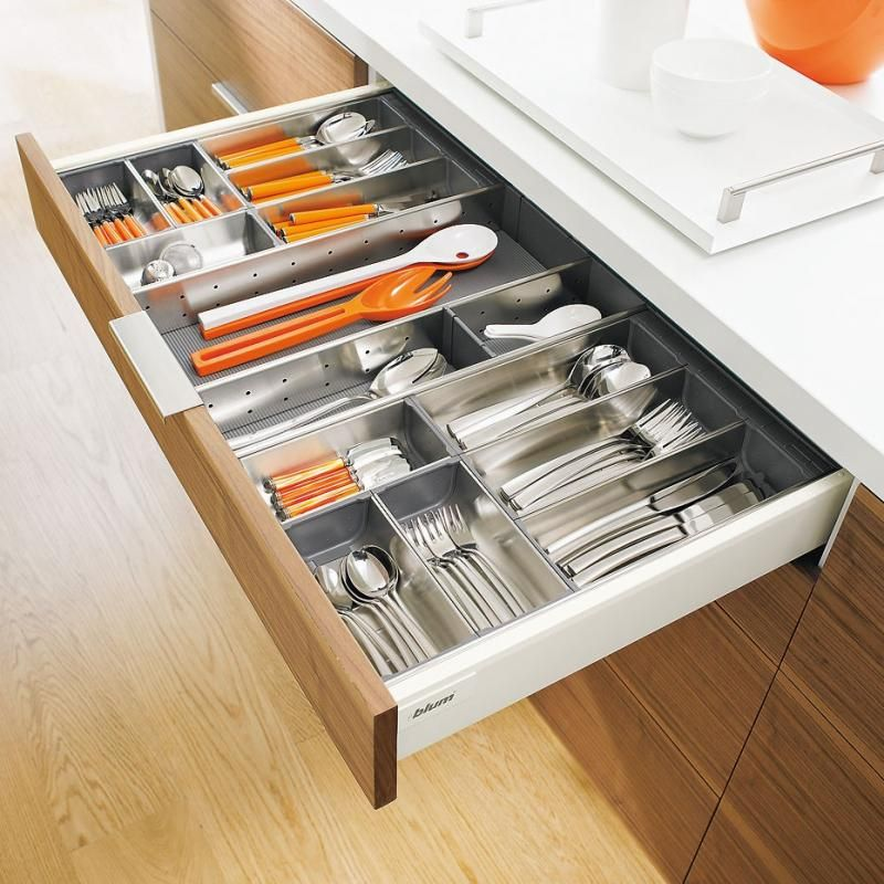 The Orga Line Cutlery Divider By Blum Is A Premium Quality Metal Drawer Insert Sure To Add The