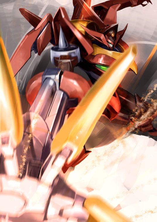 コードギアスのナイトメア紅蓮可翔式戦闘画像