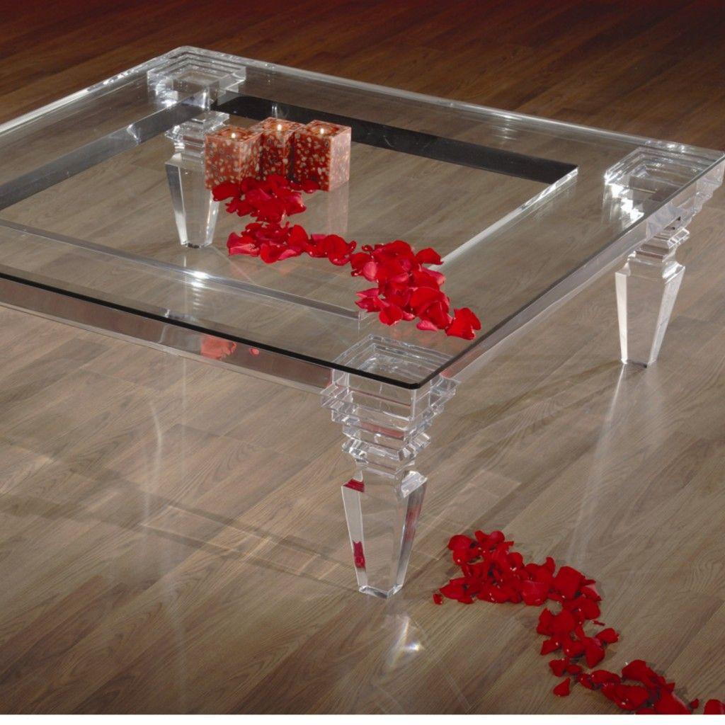 Fantasia Coffee Table 2 Top Shahrooz Art Lucite Coffee Tables Coffee Table Acrylic Furniture [ 1024 x 1024 Pixel ]