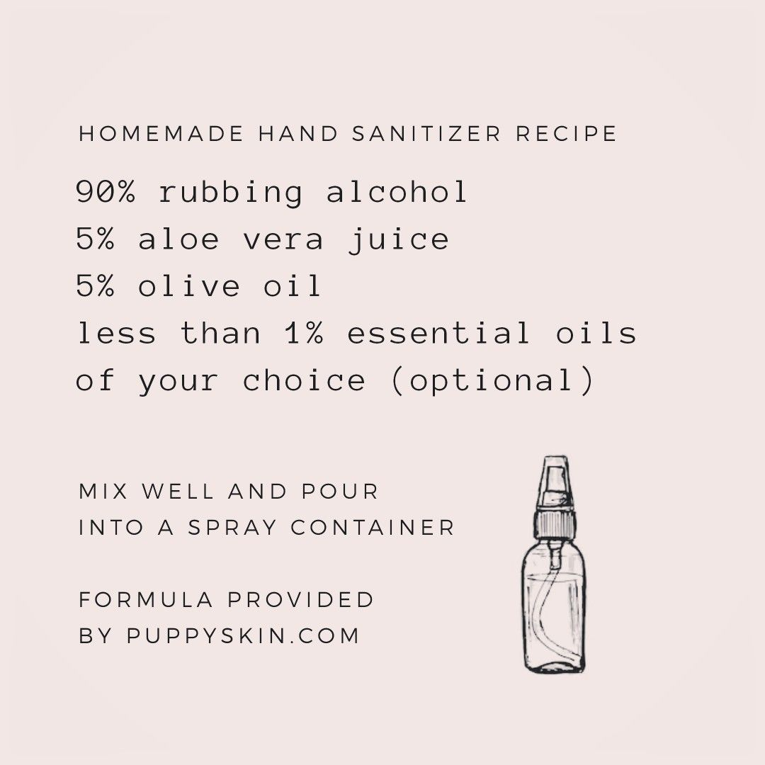 Homemade Handsanitizer For Everyone Please Use Isopropyl Alcohol