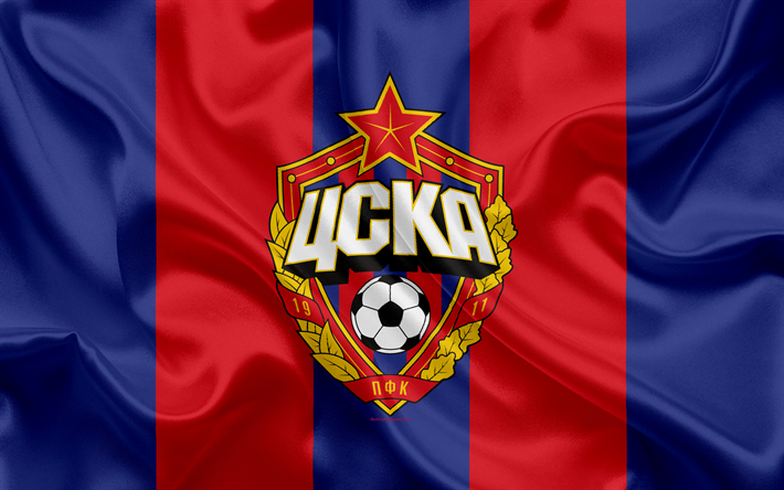 Download Wallpapers PFC CSKA Moscow, 4k, Russian Football