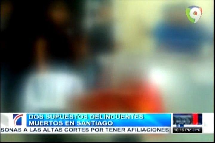 Dos Supuestos Delincuenten Abatidos Por La PN En Santiago