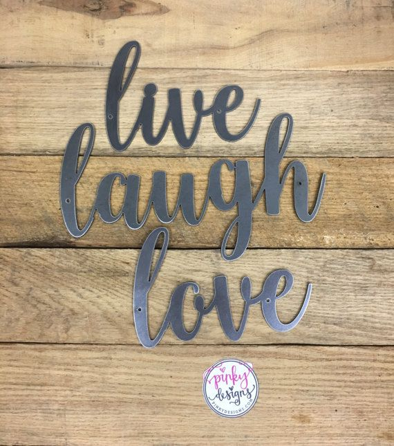 Live Laugh Love Metal Sign 3 Separate Words Live Laugh Live Laugh Love Metal Signs Painted Signs,Baby Shower Decorations For Girl Elephant Theme