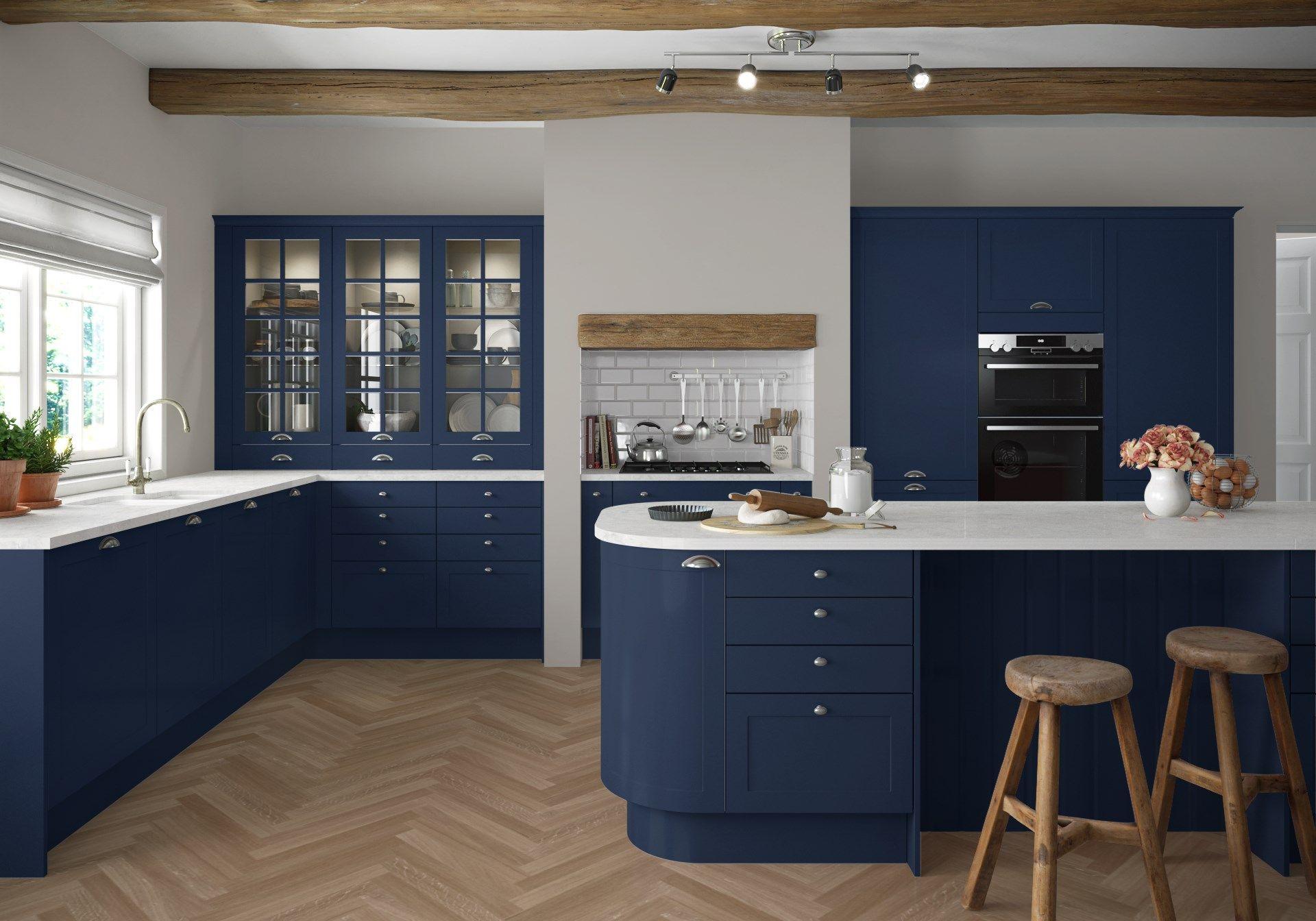 42+ Navy blue shaker kitchen type