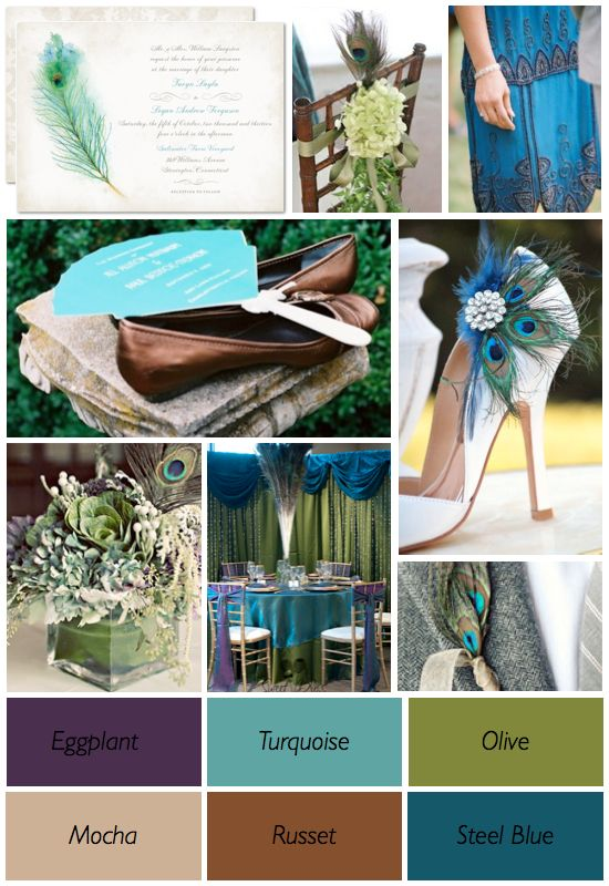 Because Of The Peacocks Enchanting Colors It Has Become A Popular Wedding Color Theme
