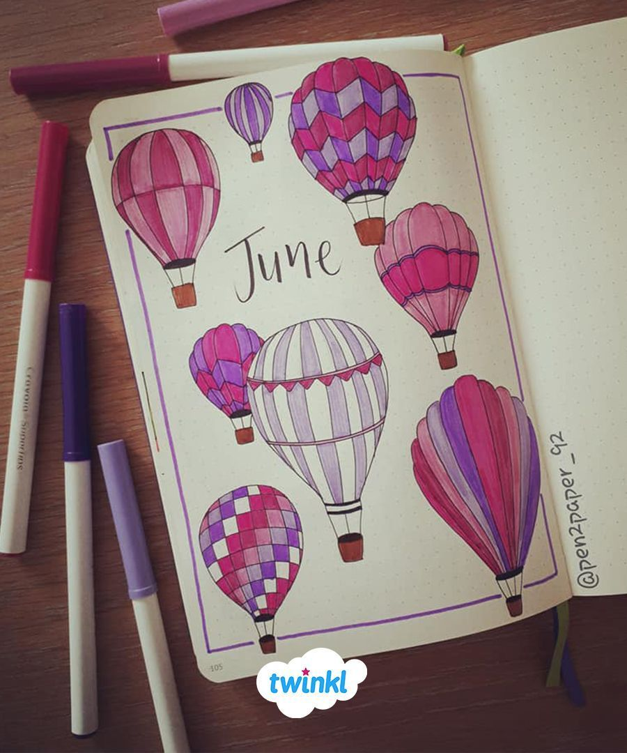 June Bullet Journal Inspiration!  #augustbulletjournal