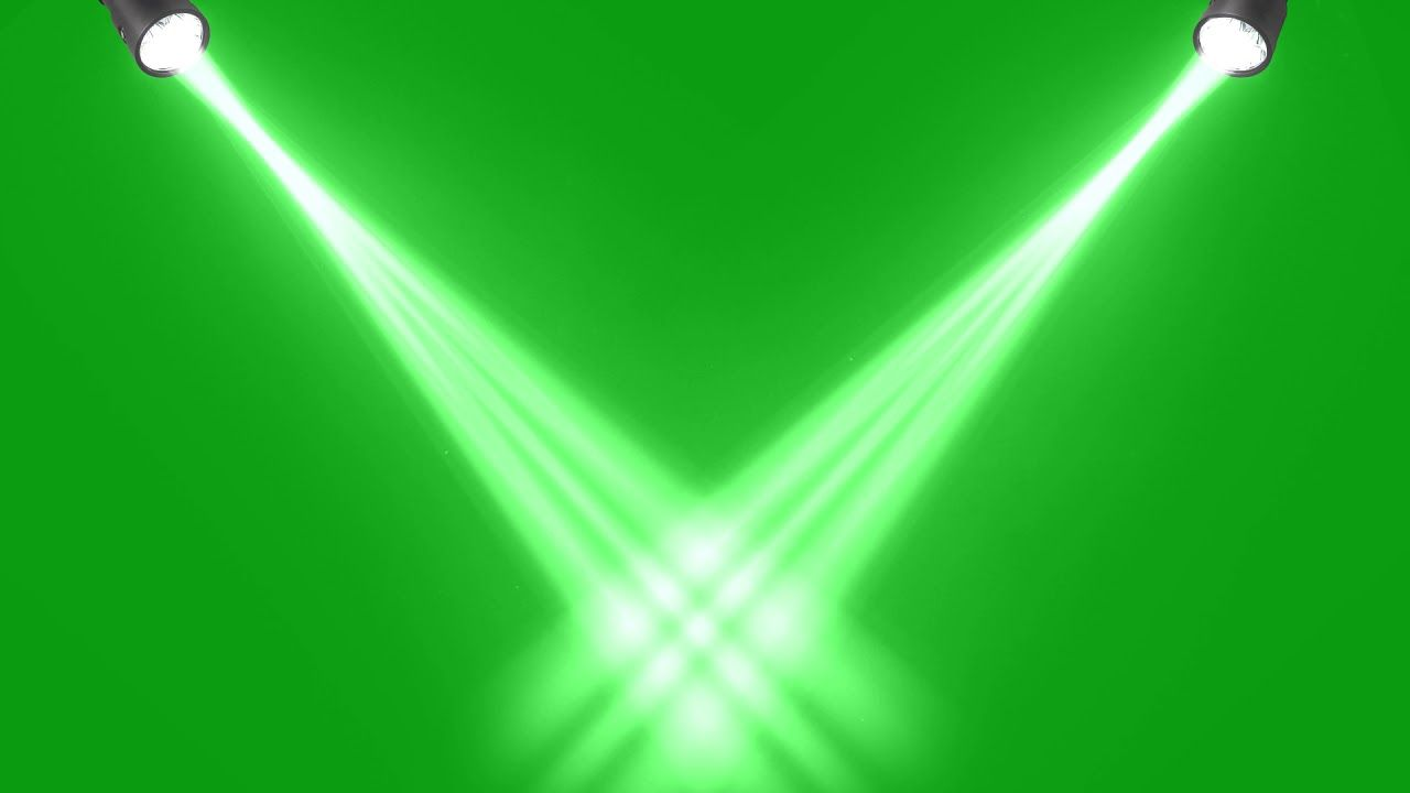 Lights Green Screen Animated Background