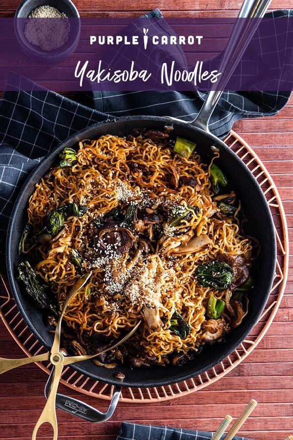 Yakisoba Noodles With Gai Lan Wild Mushrooms