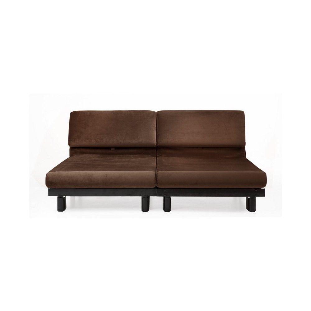 Canapé lit Duo Paddock marron 160 cm de large ou deux chauffeuses ...