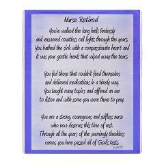 Nurse Retired Poem Blue Throw Blanket By Gigi Blue