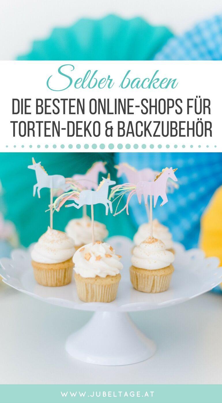 Eine Sammlung der besten Online-Shops für Torten-Deko und Backzubehör. Perfekt um viele Inspirationen zu sammeln und neue Ideen zu entdecken.