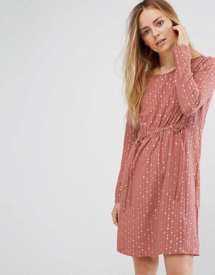 c262852310 ASOS -  Vila Vila Gathered Waist Dress - Pink - AdoreWe.com ...