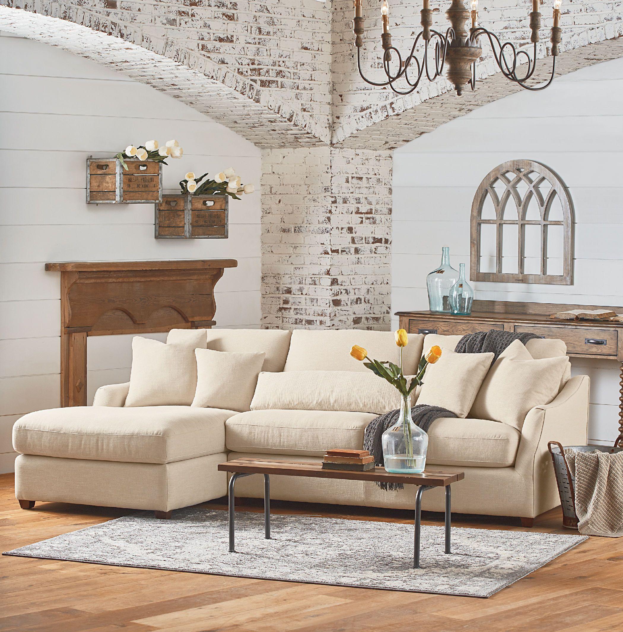 Magnolia home homestead piece laf chaise sofa kt living