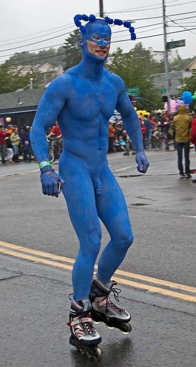 naked body paint man