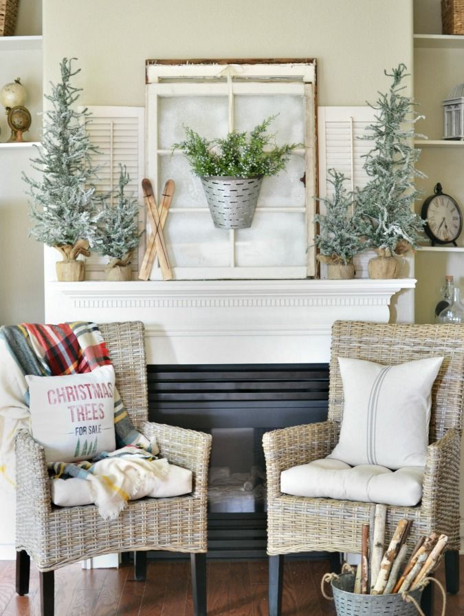 a winter inspired christmas mantel christmas mantels mantels and fences