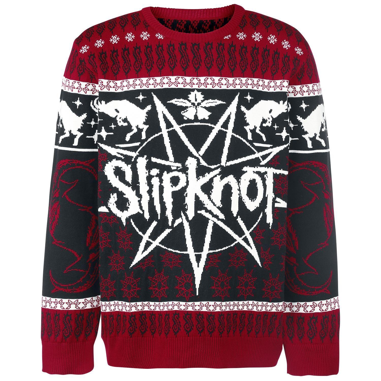 Slipknot Pleten Svetr Holiday Goat Cern Cerven Emp Badly Drawn Tshirt Short Circuit Mens Buy Online At Grindstore