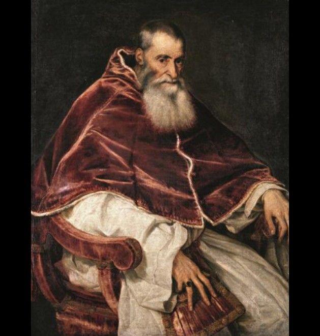 Tiziano Vecellio  Ritratto di Paolo III senza camauro , 1543 Olio su tela Napoli, Museo di Capodimonte Fototeca della Soprintendenza Speciale per il PSAE e per il Polo Museale della città di Napoli