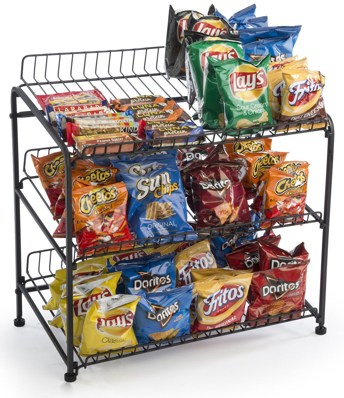 productimage display supermarket snack double shelf wktjfucvhzrs rack metal china wire sided