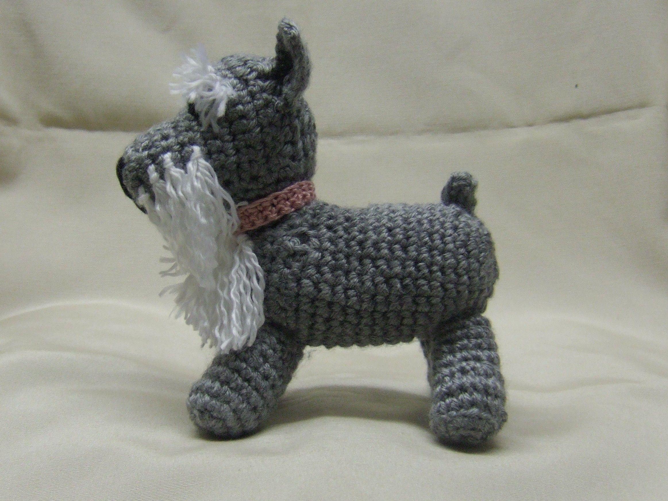 schnauzer | Crochet animals, Knitting room, Schnauzer