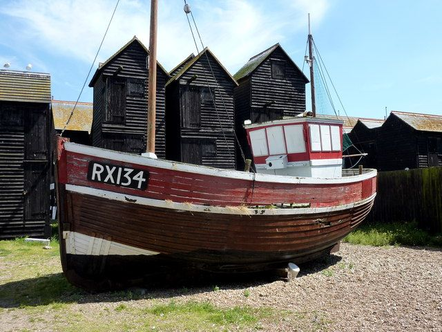 Vintage Fishing Boats One Of The Old Fishing Boats On Hastings C Pam Fray Geograph Boat Fishing Boats Model Boat Plans