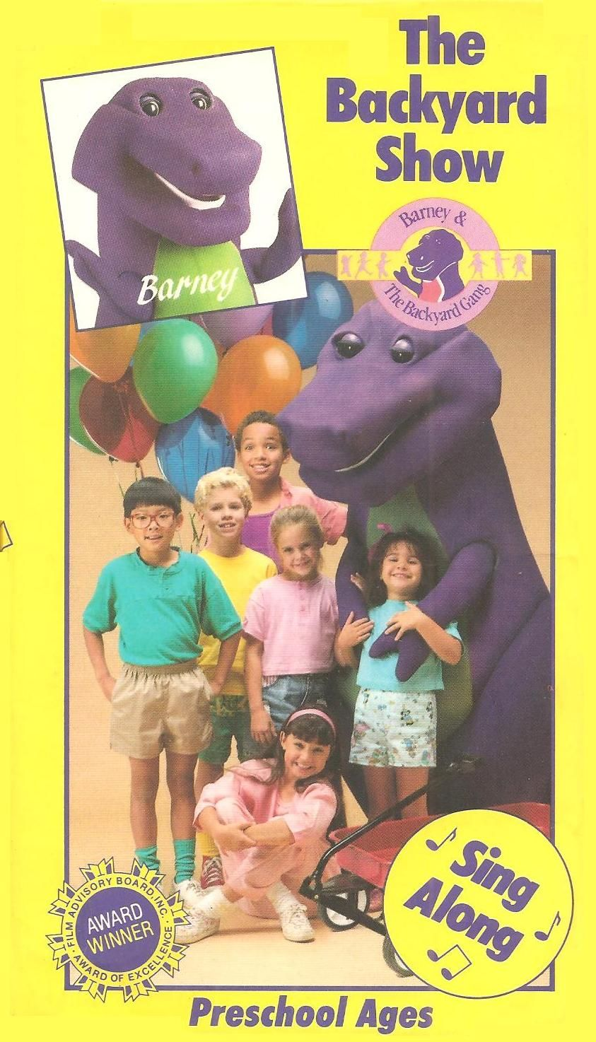 barney the backyard gang the backyard show vhs books vhs