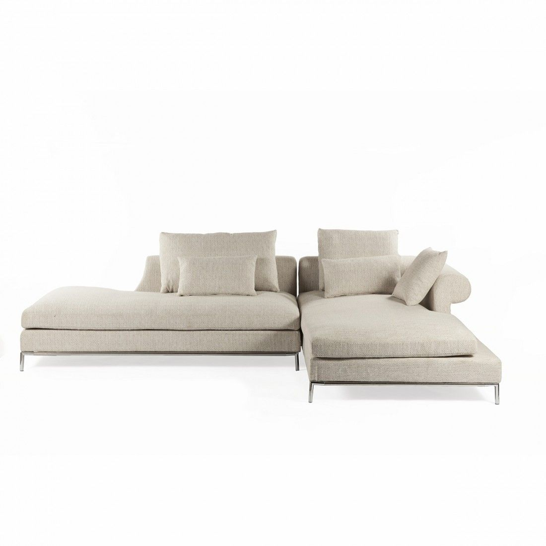 Evon Sectional Sofa He Low Profile Platform Design Of This Sofa Looks Great With Both Sectional Sofa Beige Modern Sofa Sectional Contemporary Sectional Sofa