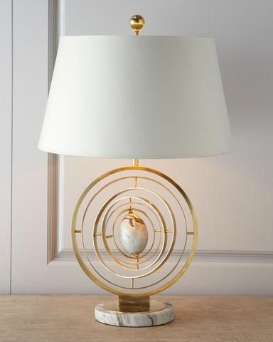 "Modern ""armillary"" Lamp - Horchow"