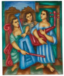 Cundo Bermúdez 1914 2008 Tres Músicos Art Art American Art Y